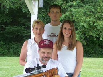 The Hoover Family: Adam, Dianne, Marissa, John